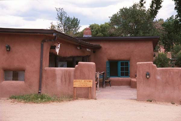 Georgia O'Keefe's house at Ghost Ranch, New Mexico.