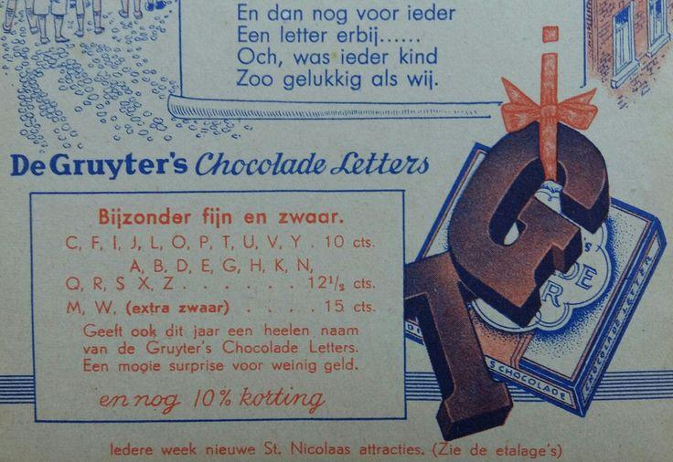 De Gruyter, chocoladeletters