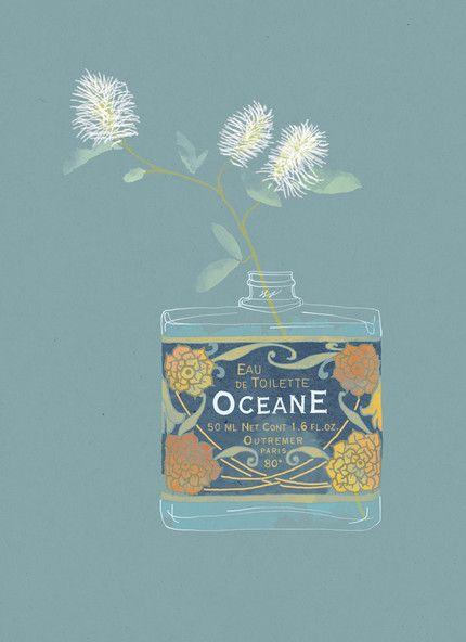 Babeth Lafon - Illustration for Marie Claire France Tiphaine-illustration #eaudetoilette