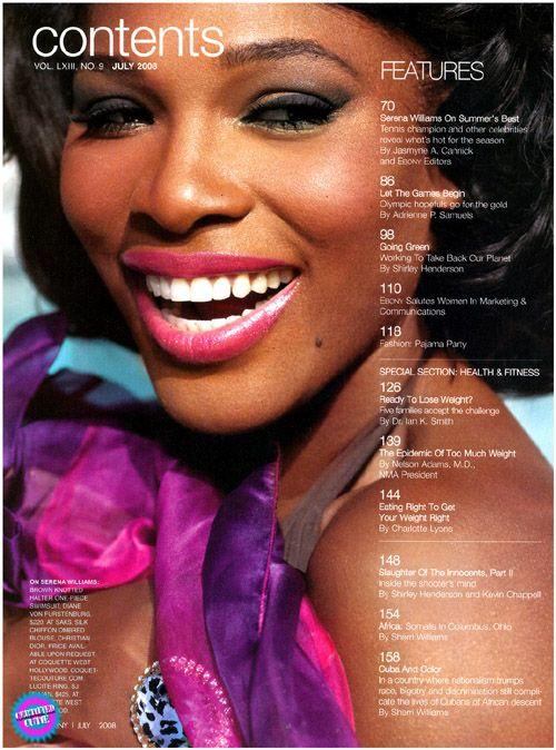 Serena Williams for Ebony Magazine