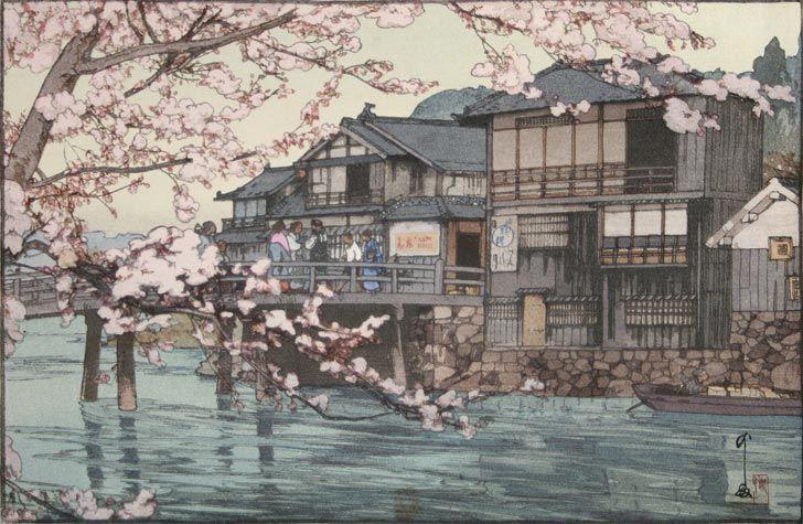 吉田博「はやせ」(1933) Woodcut
