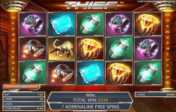 GADGETS, ADRENALINE KICKS, EXPANDING WILDS, FREE SPINS, DIAMONDS AND BIG PRIZES ALL ON ONLINE SLOTMACHINE THIEF! #casino #gambling #games #bonus #jackpot #online #chips
