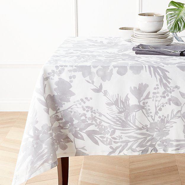 Artiste Grey Tablecloth Crate And Barrel Grey Tablecloths