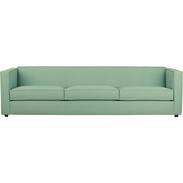Love this! Color and shape. And on sale for $1200. club 3-seater sofa   CB2