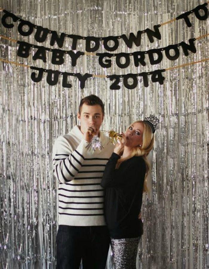 Countdown Pregnancy Announcement Picture