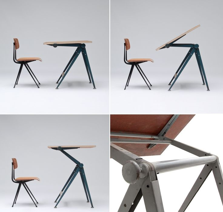 U201cReplyu201d Drafting Table Designed In 1956 By Friso Kramer And Wim Rietveld  For The Dutch Manufacturer Ahrend De Cirkel. The Multi Functional Design  Inspired ...