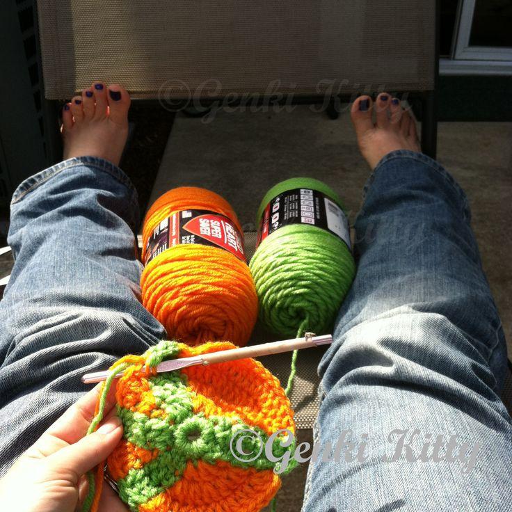Peace afghan crochet