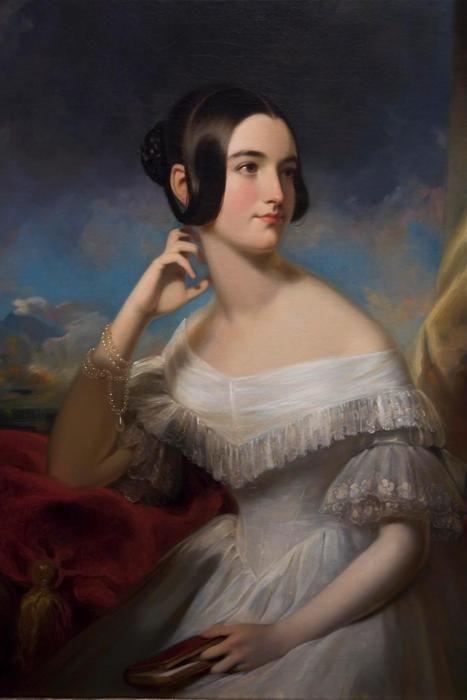 fripperiesandfobs: Miss Jane Mercer 1840 Samuel Bell Waugh