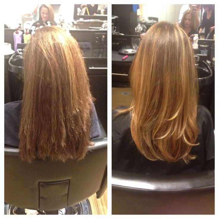 Before and after  #cut #color #layers Marissa Herdon at Jem Hair Studio Orlando Florida @jemhairstudio1