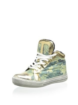 72% OFF Cartina Kid's High-Top Sneaker (Mimetico/Oro)