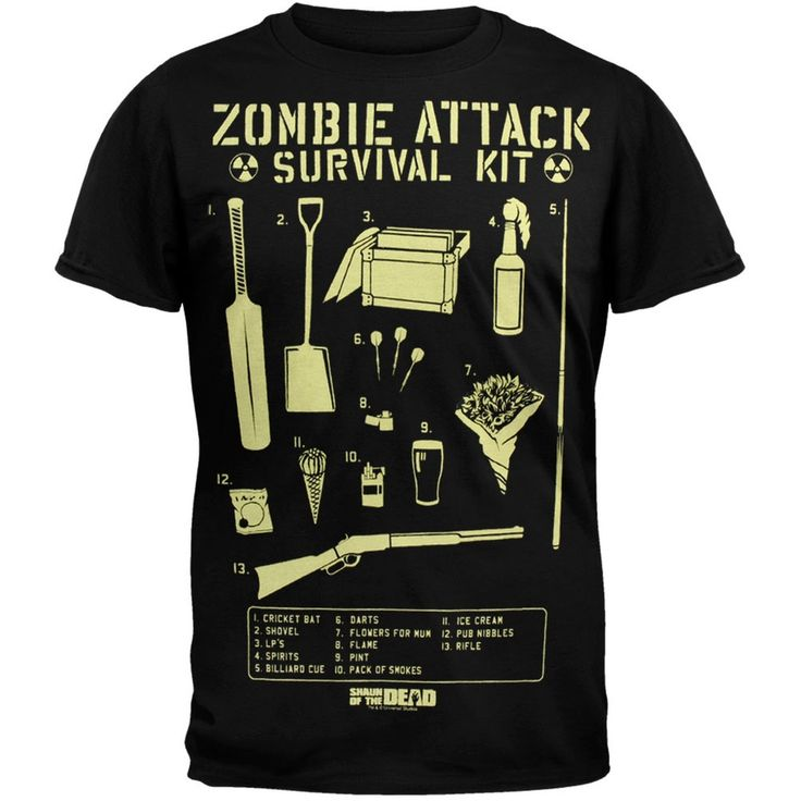 Shaun Of The Dead - Zombie Survival Kit T-Shirt