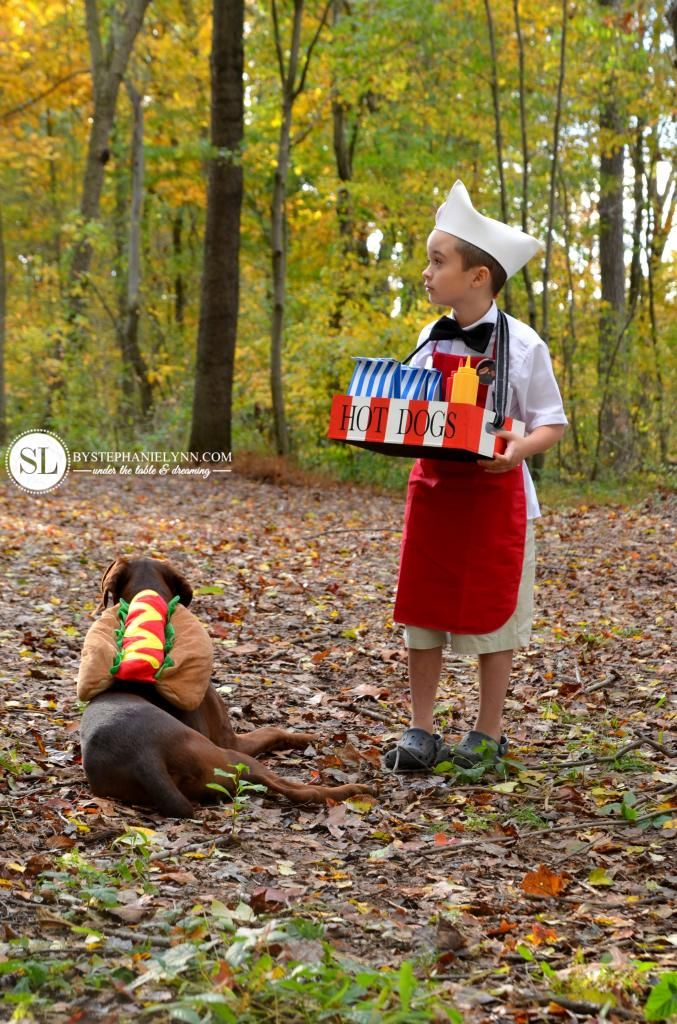 Hot Dog Vendor and Hot Dog Costume #michaelsmakers