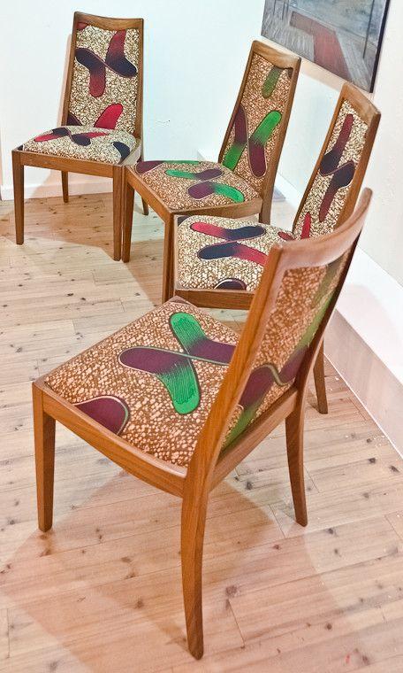 Chaises des 70's revisitées [#pagne #wax #tissuafricain]