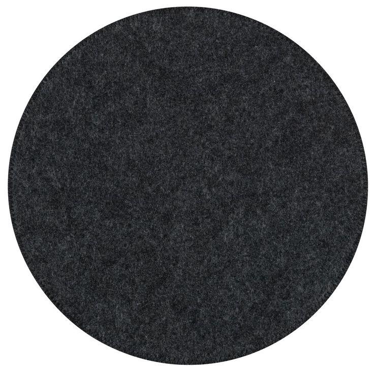 Dækkeserviet KRANSMYNTE Ø38cm filt grå | JYSK