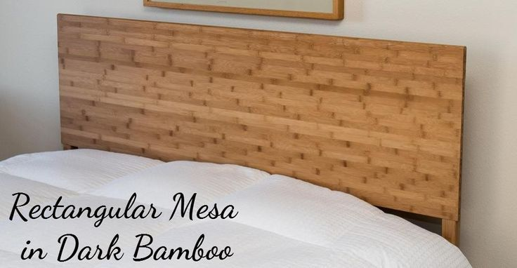 Untreated Solid Wood Bed Frame #bamboo #nontoxic #healthyhome #chemicalfree