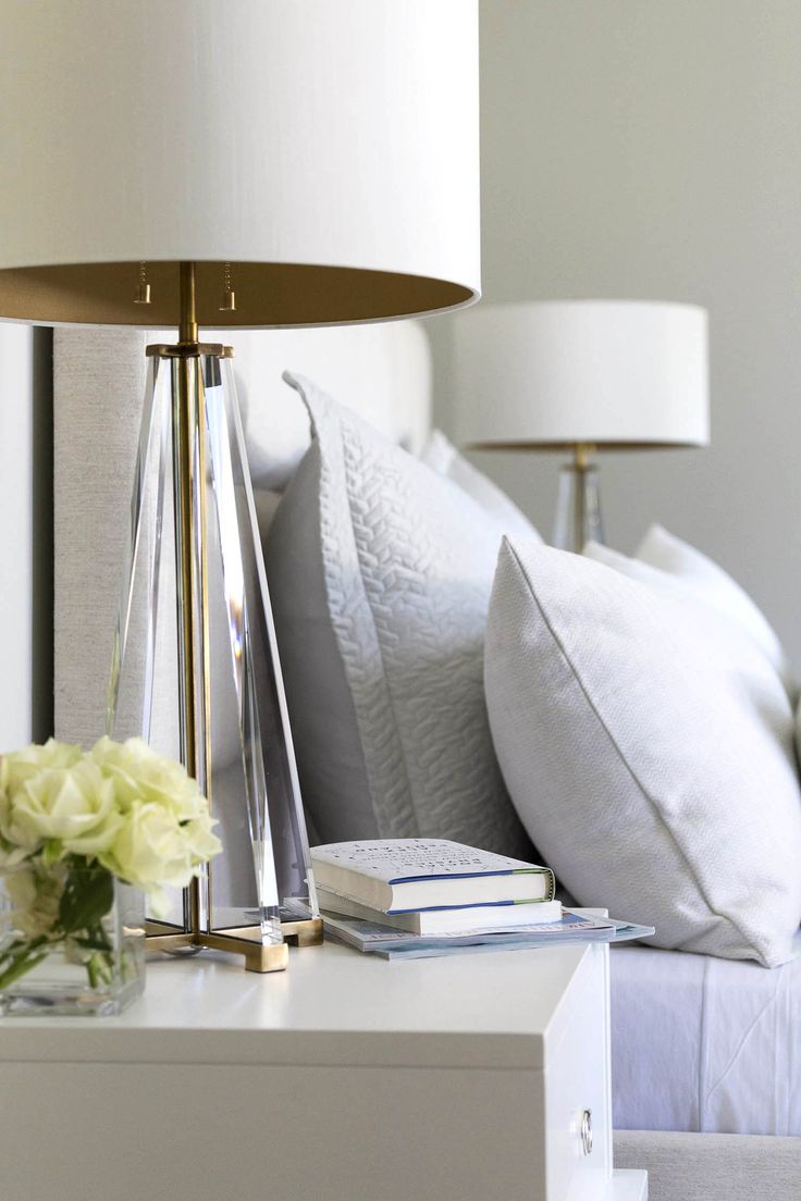 Bedside table lamp ideas - Atherton Contemporary Bedroom San Francisco Mead Quin Design I Love Lamp