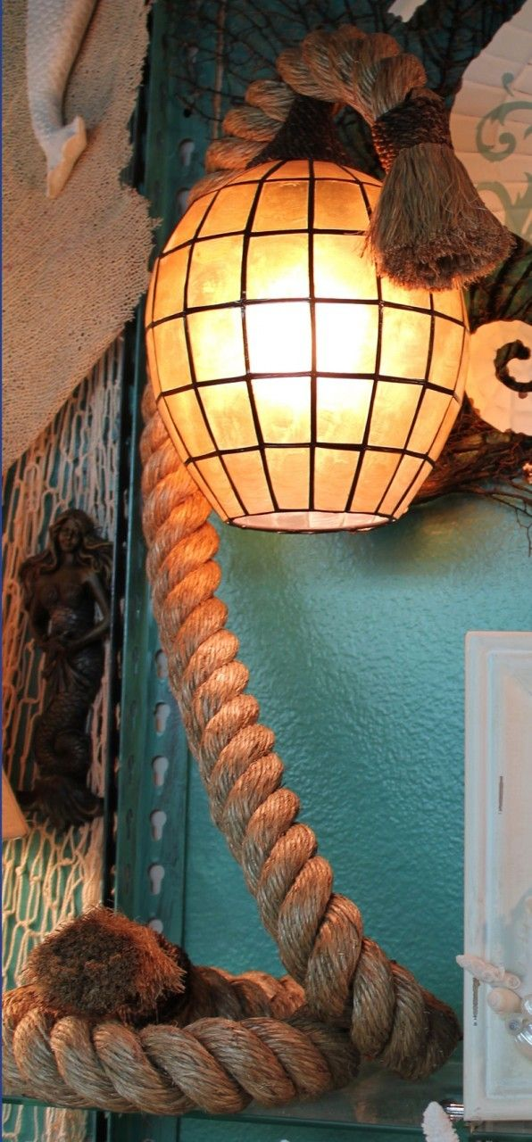 Pier Rope Lamp with Amber Capiz Shell Shade (http://www.caseashells.com/pier-rope-lamp-with-amber-capiz-shell-shade/)