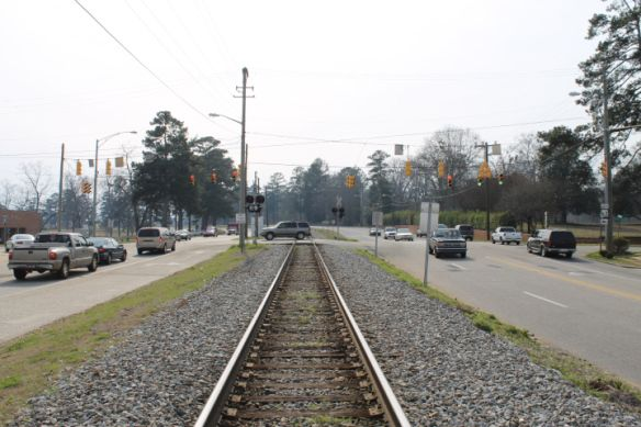 Alexander City Train Intersection.