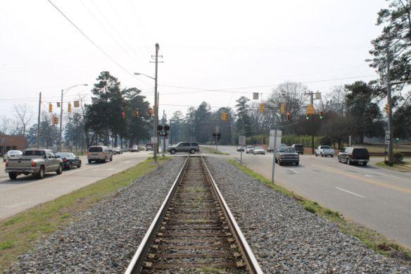 Alexander City Train Intersection.