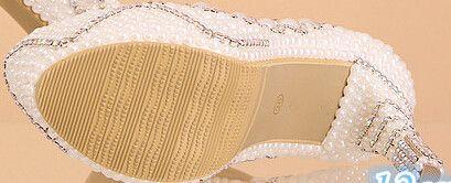 new arrival pearl white fashion women's wedding pumps high heel platform wedding shoes gentlewomen bridal shoes