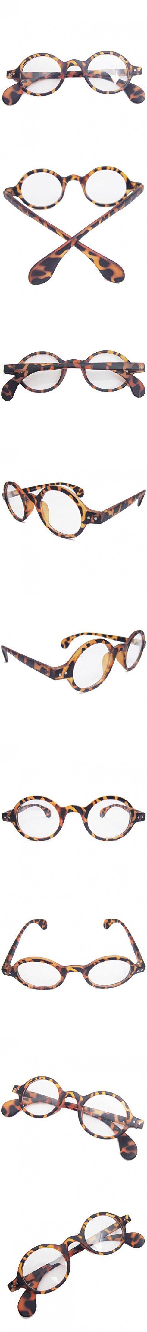 Retro Prescription Eyewear Glasses Small Round Optical Eyeglass Frame (Leopard)