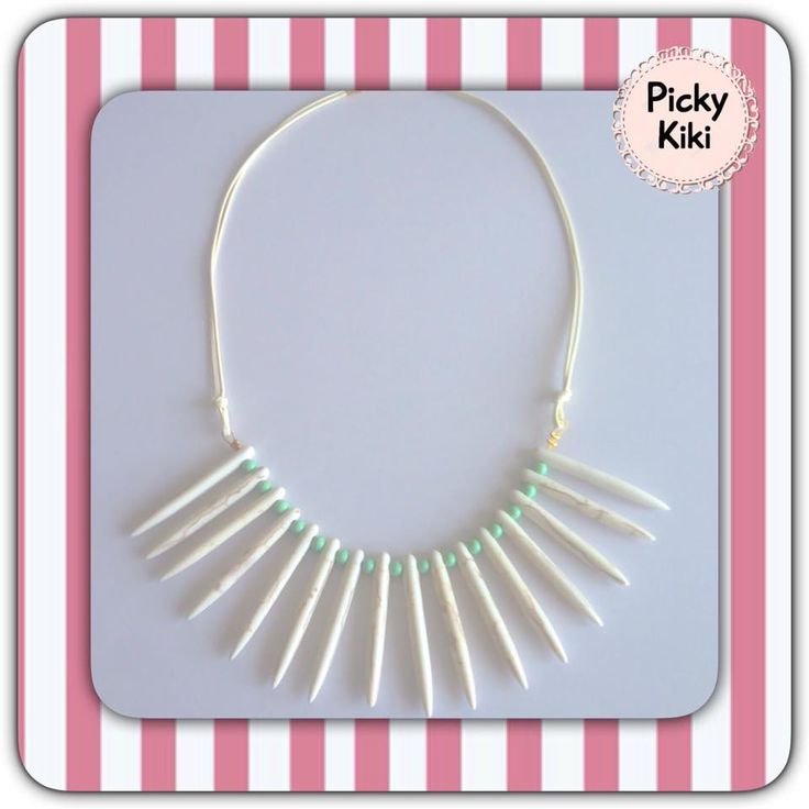 Pendant with white and peanut like color stones | Picky Kiki