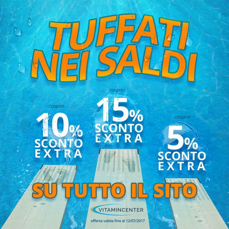 E' ora dei #SALDI #ESTIVI SU #VITAMINCENTER!! SCEGLI TU IL TUO COUPON* E TUFFATI NEI #SALDI!! LA #PROMO è VALIDA solo fino al 12/07/17! • >> SALDI5 << Sconto del 5% su ordini a partire da 50€  • >> SALDI10 << Sconto del 10% su ordini a partire da 90 €  • >> SALDI15 << Sconto del 15% su ordini a partire da 150 €