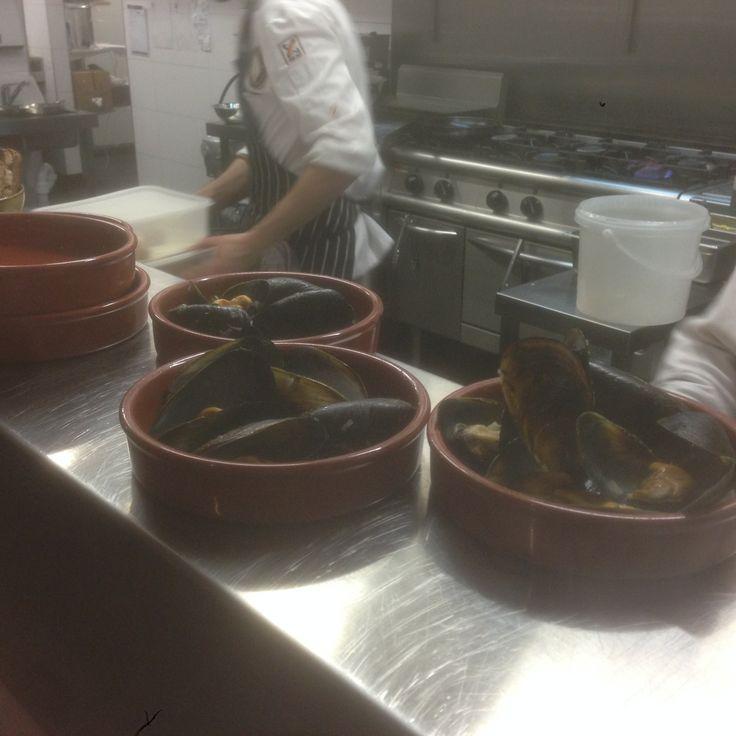 Yummy fresh mussels! #ZaZa's