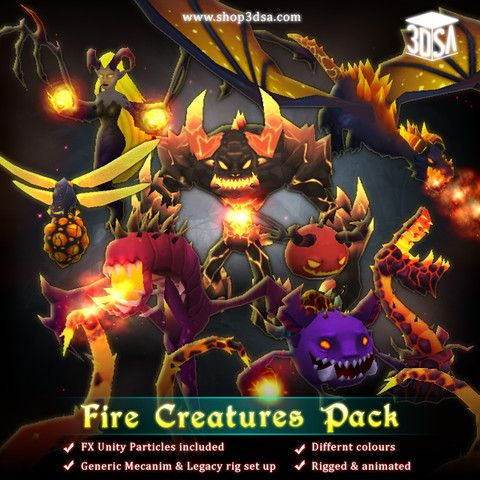 Fire Creatures Pack - Asset Store