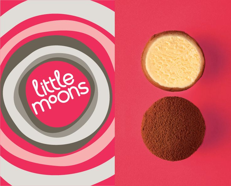 'Little Moons' consciously avoids any reference to mochi's Japanese heritage, and focuses on the physical properties of the product. The name led to the creation of tone of voice that has a subtle nod to all things heavenly, and a visual language that emphasizes the fun aspect of these delicious treats.