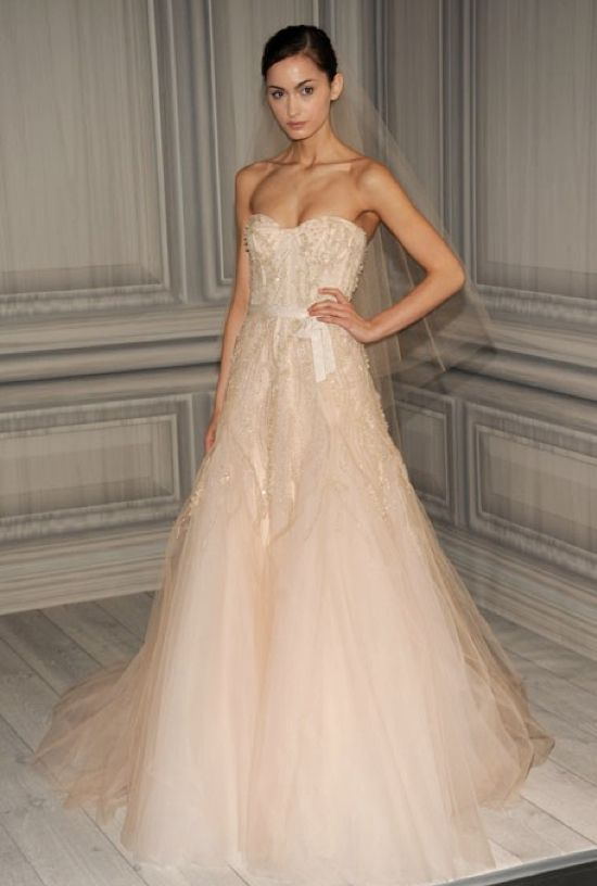 Monique Lhuillier Pink Wedding Dress - Spring 2012 collection LOVE the blush