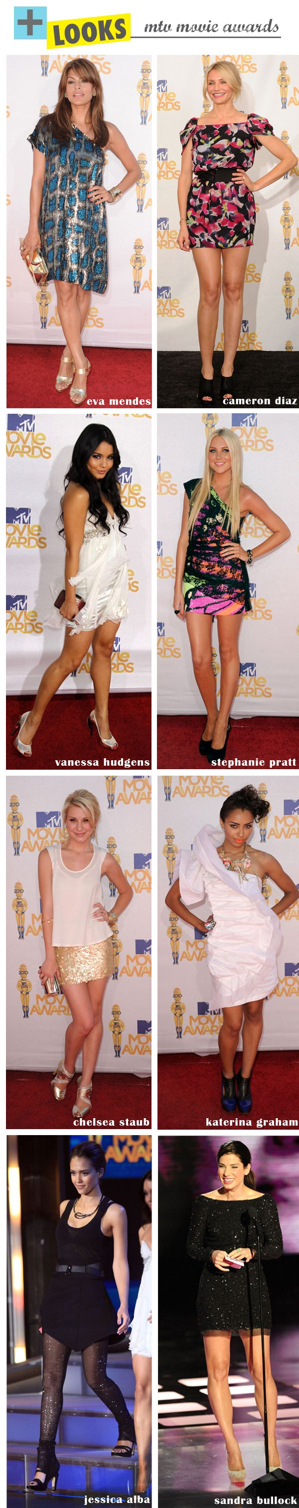 MAIS LOOKS DO MTV MOVIE AWARDS 2010