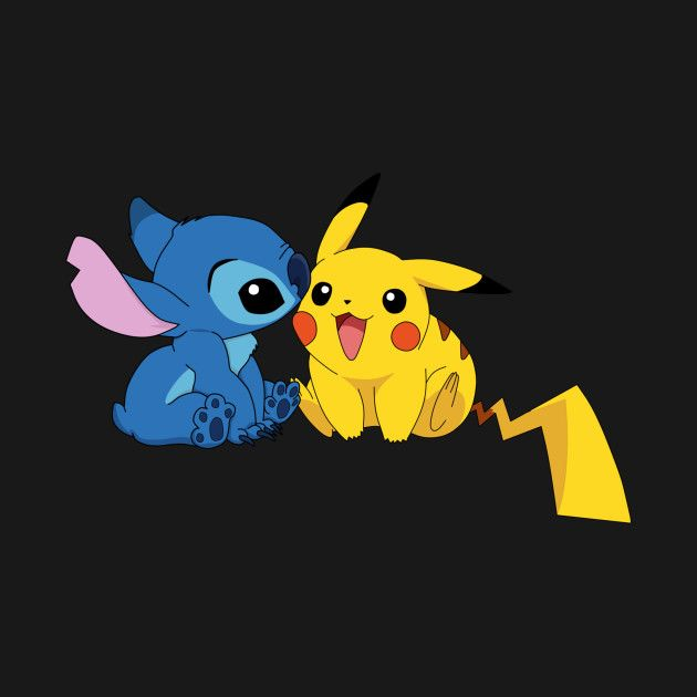 Pikachu Stitch Pikachu T Shirt Teepublic Stitch And Pikachu Pikachu Tattoo Pikachu Wallpaper