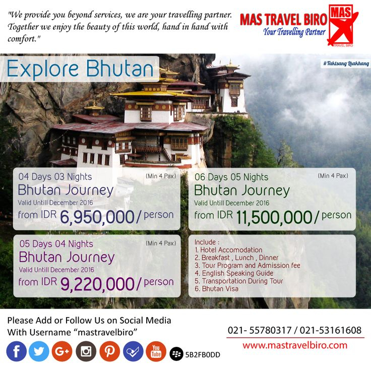 Explore Bhutan from IDR 6.950.000/Person , Book Now !! #mastravelbiro #tour #bhutan
