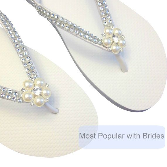 Bridal Flip Flops FlipFlop mariée mariage par APricelessPrincess