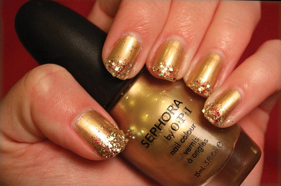 Gold Manicure Pictures