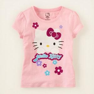 Hello Kitty flowers graphic tee
