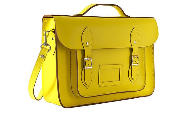 Thick As Thieves yellow leather satchel briefcase nz