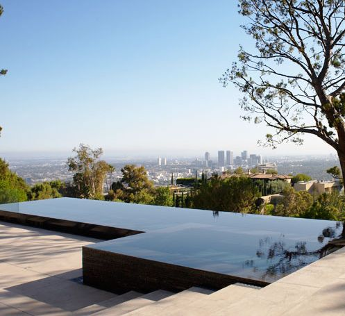 Edgeless pool exterior pools pinterest anchors for Pool design los angeles