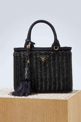 80151a7348c ... new zealand shop for prada straw handbag with a strap at shopstyle  0b959 05f2a official prada womens leather handbags ...
