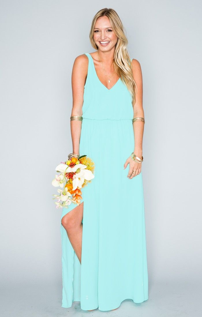 Kendall Maxi Dress ~ Sea Glass Crisp ~ Show Me Your Mumu