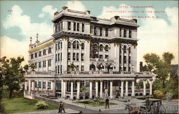 Hotel Zinzendorf, Winston-Salem, NC.... burned to the ground in 1892
