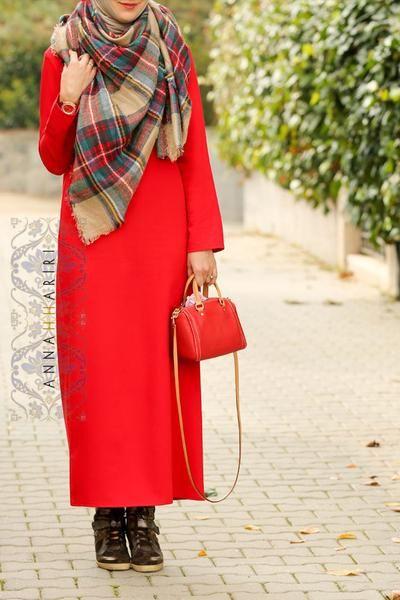 Red basic pencil dress