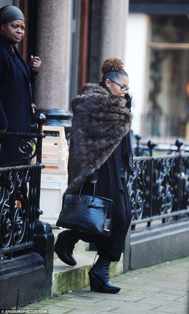 Designer: The piece de resistance of her outfit was undoubtedly her £50,000 Hermes Belkin ...