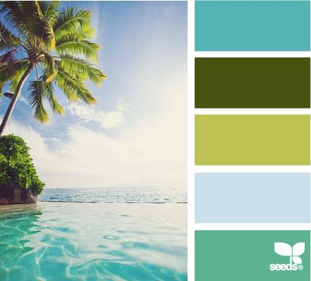 Love these beachy colors.