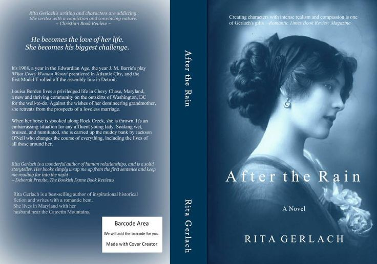 After the Rain, is available in paperback as well as in Kindle. It's a sprawling 570 page Edwardian era novel set in the outskirts of Washington DC and a tight-knit village called Chestnut Creek in Virginia.  http://www.amazon.com/After-Rain-Rita-Gerlach…/…/ref=sr_1_1…: