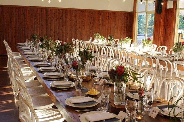 Audley dance hall wedding with native flowers