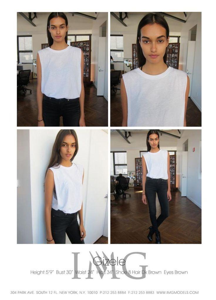 Gizele Oliviera || IMG Models New York F/W 2014 Polaroids/Digitals