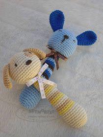 Artmorixe - Labores y manualidades: Sonajeros a crochet