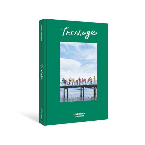 [ K-POP ] [Reservaiton]Poster+seventeen-Album Vol.2[TEEN AGE] Green Ver.